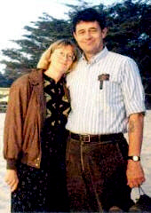 Ted Pack and his wife, 1995