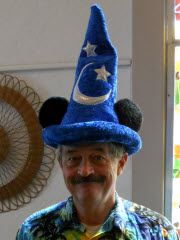 Ted Pack in a wizard's hat